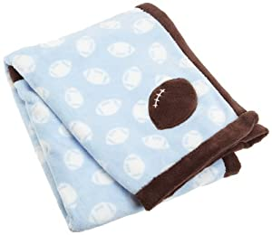 Carters Snuggle Me Boa Blanket, Blue (Discontinued by Manufacturer)