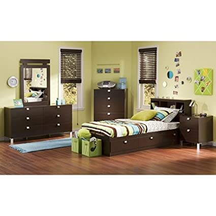 Cacao Youth Bedroom Set with Twin Mate's Bed by South Shore Furniture