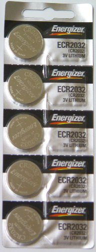 Replacement Batteries Energizer CR2032 for Cayeye, Sigma, Knog, Planet Bike & Mnay Others. Card of 5.