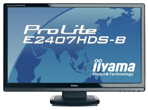 Ilyama E2407HDS 24 inch Wide LCD 1080p DVI HDMI MM Monitor - Black