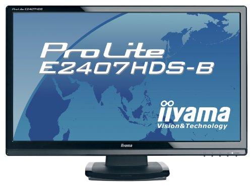Ilyama E2407HDS 24 inch Wide LCD 1080p DVI HDMI MM Monitor - Black