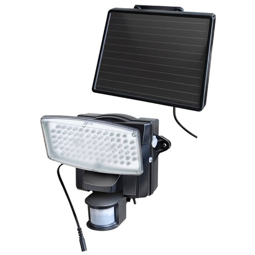 Brennenstuhl Solar LED-Strahler SOL 80 IP 44 mit Bewegungsmelder, schwarz 1170810