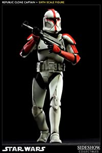 sideshow collectibles star wars figurine 1 6 republic clone captain 30 cm toys. Black Bedroom Furniture Sets. Home Design Ideas