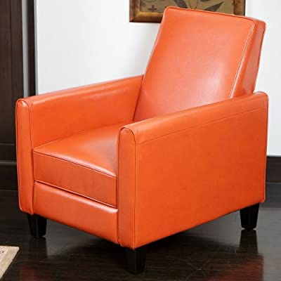Best Davis Leather Recliner Club Chair