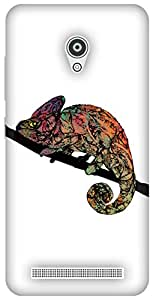 The Racoon Lean printed designer hard back mobile phone case cover for Asus Zenfone Go ZC500TG. (Chameleon)