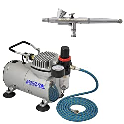 Master Airbrush Model G34 Airbrushing System with AirBrush-Depot TC-20 Tankless Air Compressor