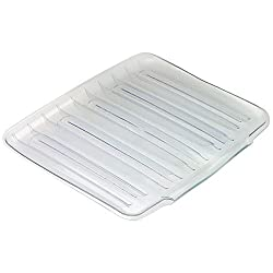 Rubbermaid Home 1182MACLR Large Drain-Away Tray-LARGE CLEAR DRAINER TRAY