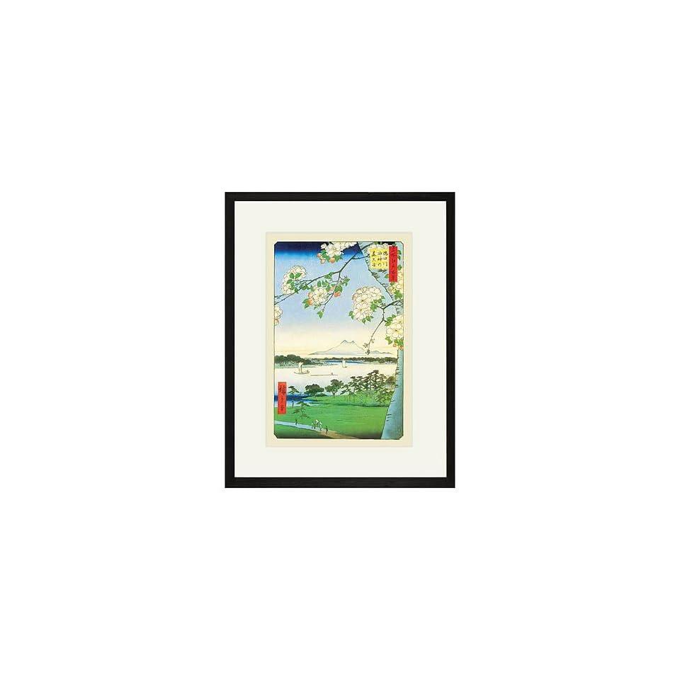 Hiroshige, Cherry Blossoms Framed Print