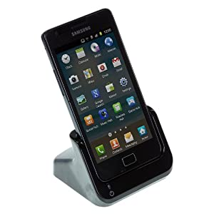 Kitsound Data and Audio Docking Station for Samsung Galaxy S2 II - Black