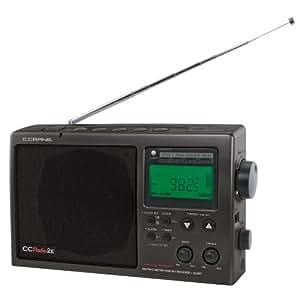 C Crane CCRadio-2E Enhanced AM FM Weather and 2-Meter Ham Band (Black) CC2BE