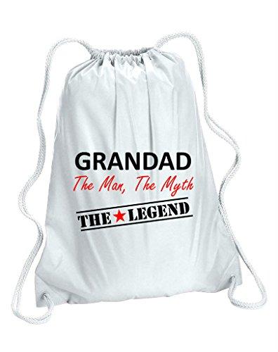 "Grandad "", motivo: The Legend, The Myth Father's Day-Sacca per palestra"