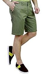 Caribbean Joe Men's Cotton Shorts MM2890-MO_Olive_40
