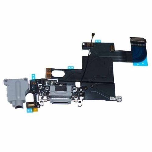 Original Iphone 6 Dock Connector USB Charging Port Flex Cable Space Grey Black Microphone Audiojack Antenna and Home button connector already installed