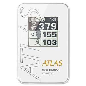 ユピテル ATLAS アトラス ゴルフナビ AGN800同等品 AGN700-W 限定カラー ホワイト