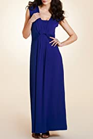 Per Una Front Twist Plain Maxi Dress [T62-5196G-S]