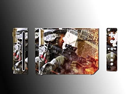 Call of Duty Modern Warfare Game Vinyl Decal Skin Protector Cover #3 for Nintendo Wii