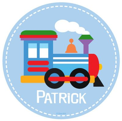 Olive Kids Trains, Planes And Trucks Train Personalized Walldotz front-893890