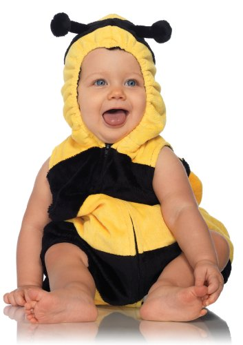 Celina Boys Bee Plush Hooded Romper (1 Piece)