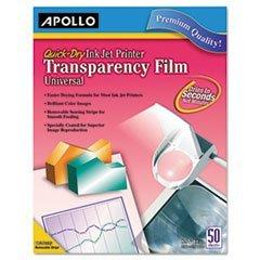 -- Inkjet Printer Transparency Film, Clear, 50/Box