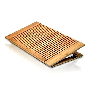Macally ECOFANPRO Bamboo Laptop Stand with Fan