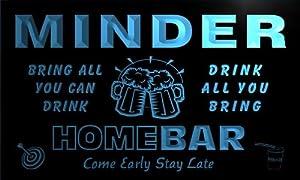 q30718-b MINDER Family Name Home Bar Beer Mug Cheers Neon Light Sign