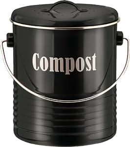 Typhoon Vintage Kit 3 Litre Compost Caddy, Black