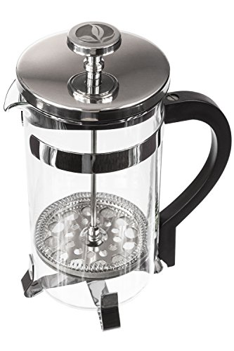boje french press coffee maker cafetiere free replacement glass with warranty stainless. Black Bedroom Furniture Sets. Home Design Ideas