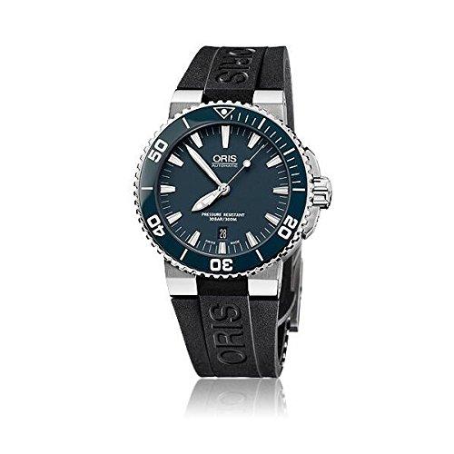 [オリス]ORIS 腕時計 Aquis デイト ブルーダイアル セラミックベゼル オートマチック メンズ [並行輸入品]