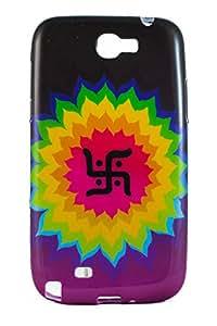 Purple Eyes Exclusive Printed TPU Silicon Back case Samsung Galaxy Note 2 N7100 Swastik