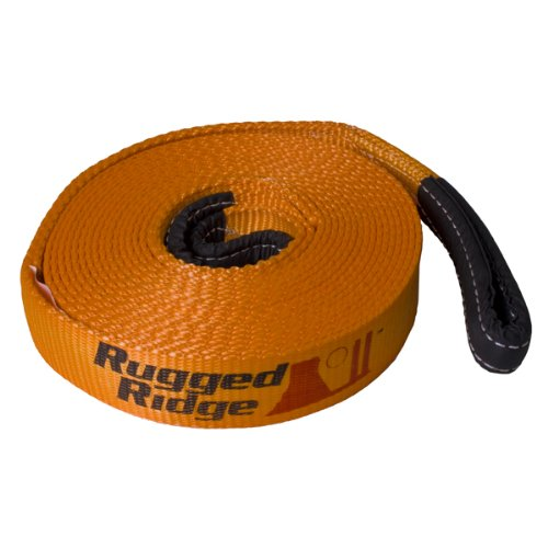 "Why Choose Rugged Ridge 15104.02 Premium Recovery 2"" x 30' Strap - 20,000lb Capacity"