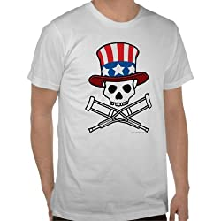 Jackass: &quot;Americana&quot; Skull 'N Crutches Tee - Guys
