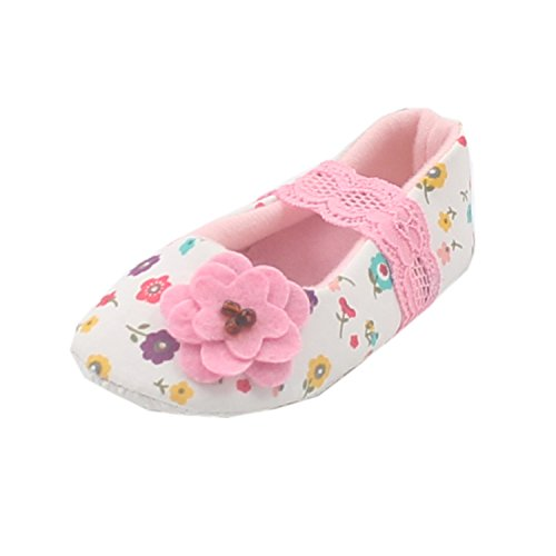 Msmushroom New Cotton Baby Girl Pink Casual Shoes With Flower,3M