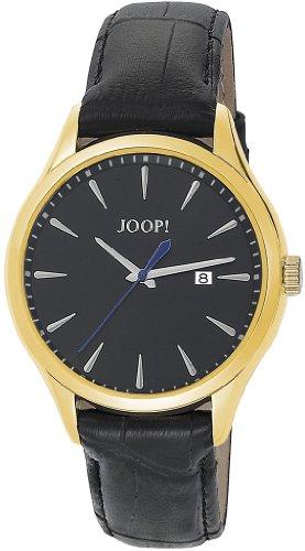 Joop  Composure Swiss Made - Reloj de cuarzo para hombre, con correa de cuero, color negro