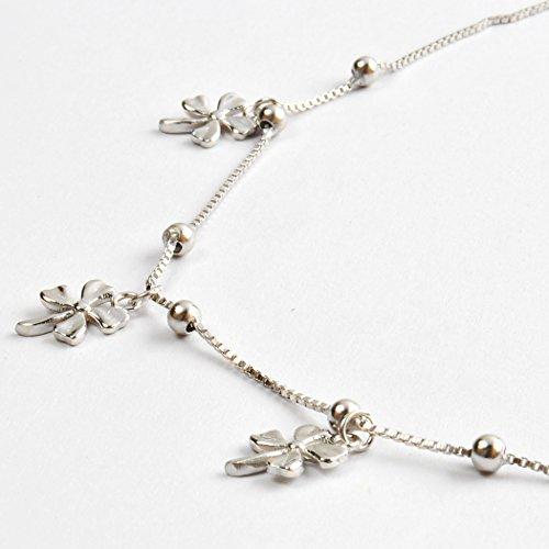 Jane stone chaine de cheville anklet trefle a 4 feuilles porte bonheur chic femme bijoux - Bijoux porte bonheur pour femme ...