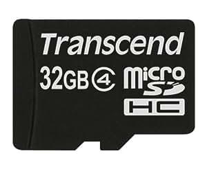 Transcend 32 Go Carte mémoire microSDHC Classe 4 TS32GUSDC4