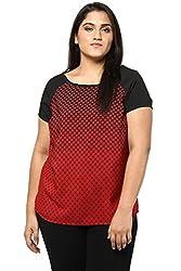 Alto Moda by Pantaloons Women Plain Top (205000005543177, RED, 4)