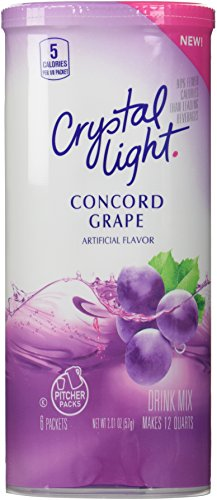 Crystal Light Concord Grape, 12-Quart 2.01-Ounce Canister (Pack Of 2) (Crystal Light Grape Caffeine compare prices)
