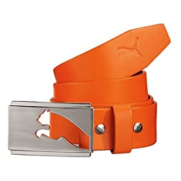 Puma Men\'s Highlight Fitted Belt, Orange, Medium