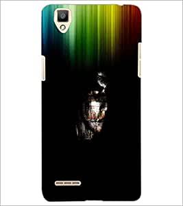 PrintDhaba Abstract Image D-3762 Back Case Cover for OPPO F1 (Multi-Coloured)