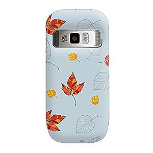 Garmor Seamless Autumn Design plastic back cover for Nokia C7 Autumn II-2