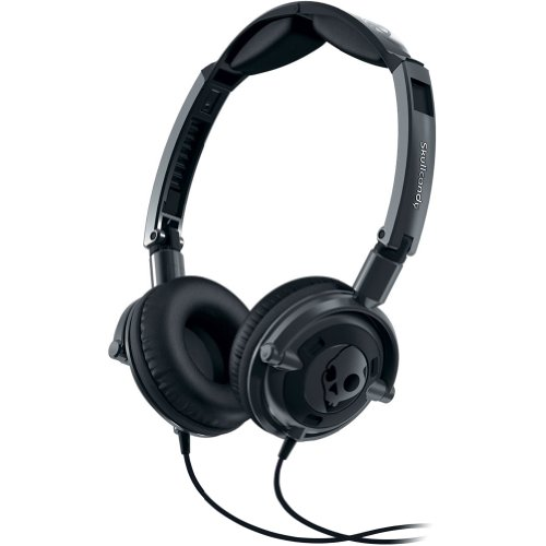 Skullcandy Lowrider With Mic Stereo Wired Headphone - Gun Metal / One Size