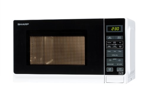 Sharp 20 Litre Solo Microwave, White