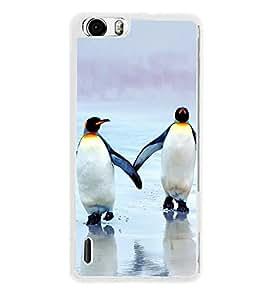 Penguins on Beach 2D Hard Polycarbonate Designer Back Case Cover for Huawei Honor 6
