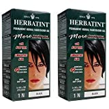 (2 Pack) - Herbatint - Black Hair Colour | 120ml | 2 PACK BUNDLE