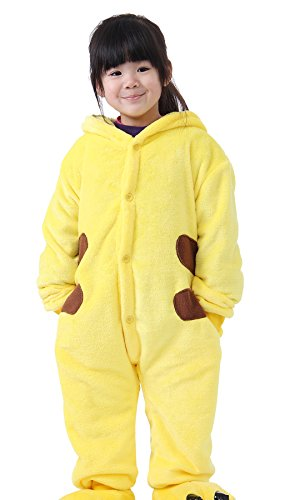 iLoveSIA Childrens Pajamas Animal Onesie Pikachu Yellow Size XXL Fit Height 140-150cm Age From 10-12 Years