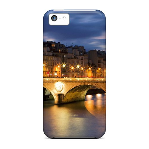 Hot Fashion Vqrhn2071Jbmkd Design Case Cover For Iphone 5C Protective Case (Beautiful City Bridge)