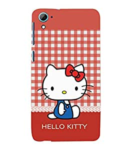 printtech Kitty Cat Back Case Cover for HTC Desire 826::HTC Desire 826 Dual