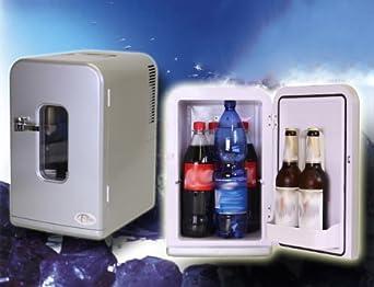 Mini Kühlschrank Für Das Auto : Tectake transportabler minikühlschrank silber liter für auto