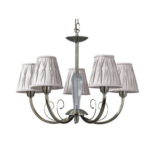 Spot-Light Kronleuchter Atina 5-flammig, altmessing / beige SP-5075511