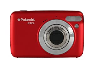 "Polaroid IF424 14 Megapixel Kompakt-Digitalkamera - Rot (2.4 ""Screen, 4-fach optischer Zoom)"